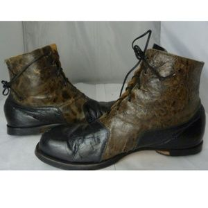Cydoq Leather Two Tone Boots Euro 41.5 11.5W/8.5M